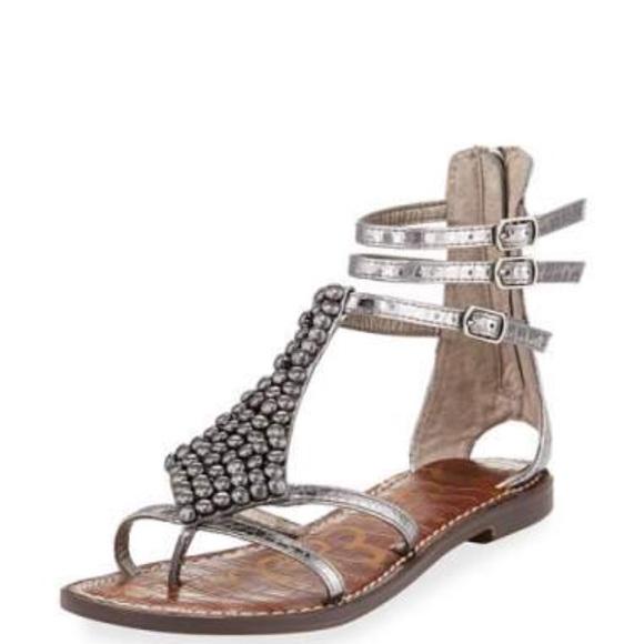 c3563945c1a4bc Sam Edelman Ginger beaded Gladiator Sandals. M 5b0d218b8df47064ae2729f8